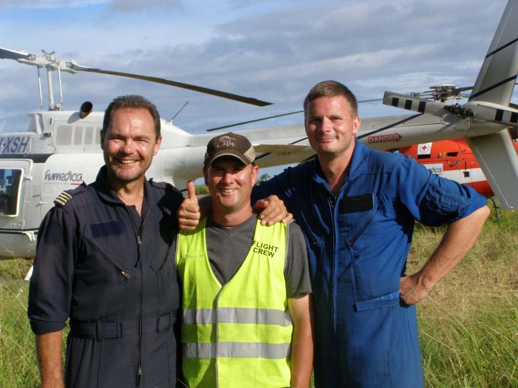 Two pilots one ground coordinator